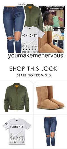 """leah143love"" by leah143love ❤ liked on Polyvore featuring WearAll, UGG Australia, DOPE and MissMulatto"