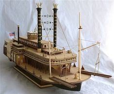Constructo model's 1/48 scale Robert E. Lee paddle wheel steamboat.