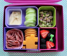 Laptop Lunches school kindergarten lunch - puzzle cheese for autism awareness by anotherlunch.com, via Flickr