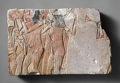 Dancers with Instruments, ca. 1353–1336 B.C. New Kingdom, Amarna Period, Dynasty 18, reign of Akhenaten. Egypt, Middle Egypt, el-Amarna probably; Hermopolis possibly. The Metropolitan Museum of Art, New York. Gift of Norbert Schimmel, 1985 (1985.328.11) #dance