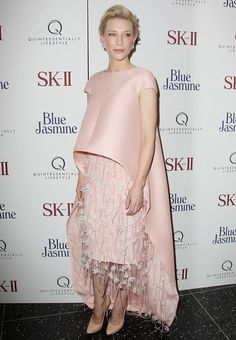 Cate Blanchett Strikes Again With An Amazing Red-Carpet Outfit #Refinery29 My thoughts...if jellyfish could wear beautiful bridal gowns, they would wear this...