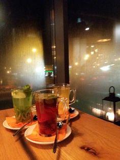 Three kinds of hot Tea in Il Tramonto restaurant by Krzysztof Wojtaszek.