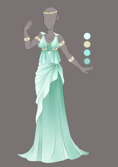 :: Commission August 05: Outfit Design :: by VioletKy.deviantart.com on @DeviantArt