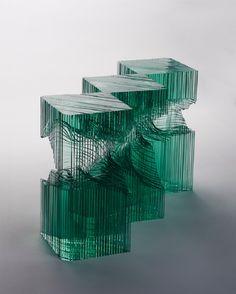 Ben Young's beautiful layered glass sculptures
