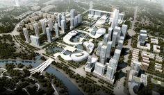 amphibianArc forms organic yichang new district masterplan - designboom | architecture & design magazine