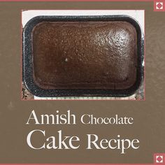 Happy #NationalChocolateCakeDay! Hop over to our blog http://ift.tt/1sRBtLj for a delicious #Amish #recipe.