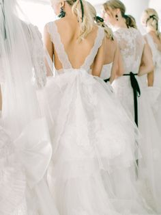 Stunning Marchesa wedding dress: Wedding Dress: Marchesa - http://www.stylemepretty.com/portfolio/notte-by-marchesaPhotography: Jessa Schifilliti of Love & Light Photographs - www.loveandlightphotographs.comRead More on SMP: http://www.stylemepretty.com/2017/05/07/marchesa-notte-spring-2018-bridal-week-2/