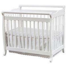 DaVinci Emily 2-in-1 Mini Crib and Twin Bed - White