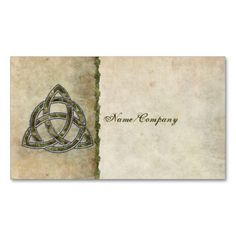Triquetra Natural Business Cards. I love this design! It is available for customization or ready to buy as is. All you need is to add your business info to this template then place the order. It will ship within 24 hours. Just click the image to make your own!