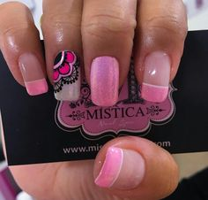 Hot Pink Nails, Love Nails, Pretty Nails, My Nails, Glam Nails, Beauty Nails, Elegant Nail Designs, Nail Art Designs, French Tip Nails