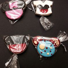 Four different cookies for a Mickey Mouse birthday party