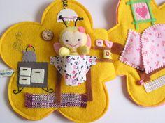 Pilli pillangó virágkuckója- játszókönyvecske, Baba-mama-gyerek, Játék, Készségfejlesztő játék, Plüssállat, rongyjáték, Meska