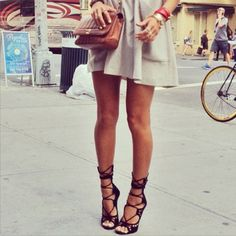 Giuseppe Zanotti lace up suede gladiator heels! To die for!!
