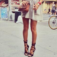 Giuseppe Zanotti lace up suede gladiator heels