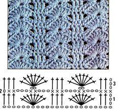 Crochê Tricô - Gráficos: Ponto Fantasia em Crochê