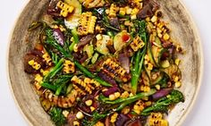 Meera Sodha's chargrilled summer vegetables with dhana-jeera dressing.
