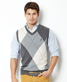 Nautica Sweater, Argyle Sweater Vest - Mens Sweaters - Macy's