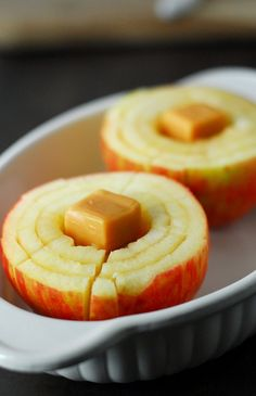 Bloomin' Baked Apples. #recipe #fall