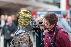 Doctor Who Celebration 2013 - Silurian Portrait Royalty Free Stock Photo