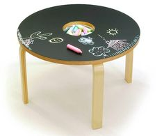 Woody Chalkboard Table - What's better than a table designed just for kids? One they can draw on! The Woody Chalkboard Table is exactly that, offering both a work surface and . Chalkboard Table, Chalkboard Paint, Chalk Paint, Chalkboard Drawings, Magnetic Chalkboard, Chalkboard Lettering, Black Chalkboard, Decoration Creche, Ikea Table