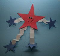 Simple and easy preschool kids craft to keep the kids entertained and engaged during 4th of July weekend.