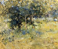 Berthe Morisot - Willows in the Garden at Bougival, 1884, oil on canvas