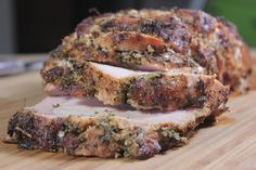This herb rubbed and smoked pork loin only takes about 3-4 hours and is perfect for Mother's day or almost any other special family get together day.