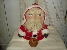 Jingles Santa Stump Doll Primitive Rustic by YorkiesPrimitives, $27.95