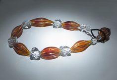 "Marianne Kohler - ""Necklace,"" blown borosilicate glass, rock crystal"