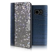 WANNA BE UNIQUE LEATHER CRYSTAL CUBIC CASE FOR GALAXY S6 EDGE