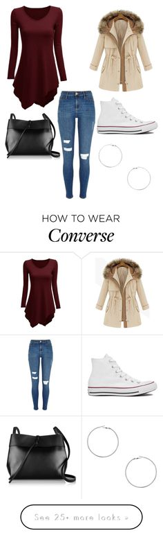 """Untitled #462"" by fercakova-viktoria on Polyvore featuring River Island, Converse, Kara and Dorothy Perkins"