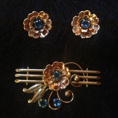 """Spotted while shopping on Poshmark: """"Earring and brooch setreduced from $45""""! #poshmark #fashion #shopping #style #Jewelry"""