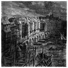 London Bridge in 1694.