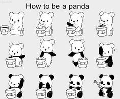 how to make a panda cartoon   panda cartoon   Ning knows best