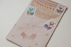 FISH MAIL ART: мэйл-арт конверты, объекты и открытки наси коптевой и саши браулова: aerostat bed