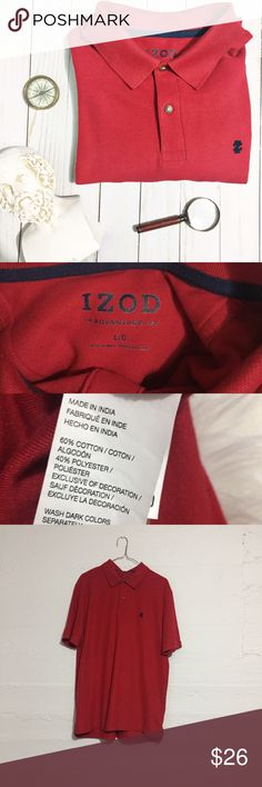 IZOD Red Polo Shirt Men's red IZOD Polo. Bundle with the other in this closet and save! Open to offers.  No trades. Izod Shirts Polos