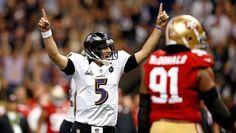 Baltimore Ravens hold off San Francisco 49ers' surge to win Super Bowl XLVII    (Photo: Chris Graythen / Getty Images) #SuperBowl #SB47 #NFL #Football #BaltimoreRavens #SanFrancisco49ers