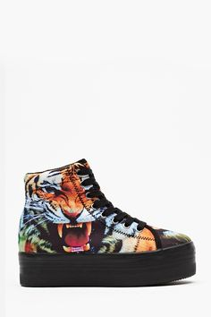 Homg Platform Sneaker - Tiger   Why do I not own these? They would match my space tiger shirt PERFECTLY