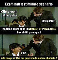 Tamil Funny Memes, Tamil Comedy Memes, Love Memes Funny, Funny Relatable Memes, Tamil Jokes, Hilarious, Exams Memes, Exams Funny, Funny School Jokes