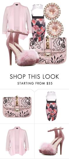 """""""Fashion"""" by queenrina2017 ❤ liked on Polyvore featuring Valentino, Boohoo, City Chic and Dana Rebecca Designs"""