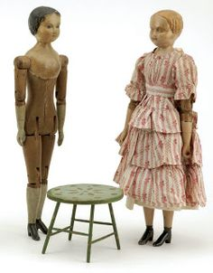 Linda Walsh Originals Dolls and Crafts Blog: Early American Wooden Dolls By Joel Ellis From 1873
