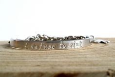 Chain it up tekst armband | Daily Inspirations - handmade jewelry and more | hand stamped | tekts sieraden