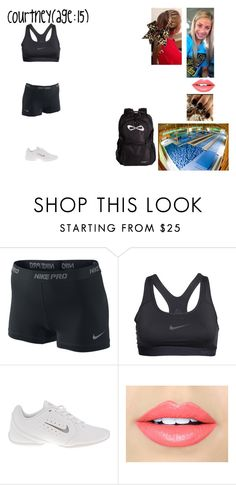 """Courtney-Firce Dance Practice at Camp"" by dreamfamily ❤ liked on Polyvore featuring NIKE and Fiebiger"