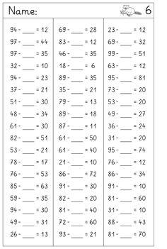 hier im Zahlenraum bis 100 Platzhalteraufgaben ohne Übergang... und ein paar Aufgabensammlungen, die buntgemischtere Aufgabentypen ...