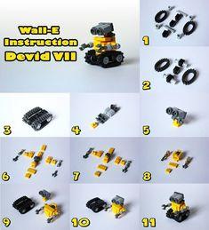 lego pop machine instructions - Wall-E Lego Duplo, Robot Lego, Lego Batman, Robots Robots, Lego Marvel, Wall E, Lego Design, Lego Disney, Disney Diy