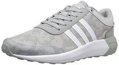 adidas NEO Women's Cloudfoam Race W Running Shoe, Clear Onix/White/White, 7.5 M US