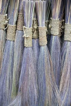 Even the brooms are colorful in India