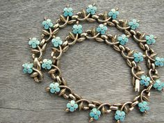 Signed Trifari Necklace with Poured Turquoise by TheSnazzyRhino, $68.00