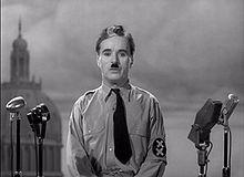 """""""El Gran Dictador"""", escena del discurso final."""