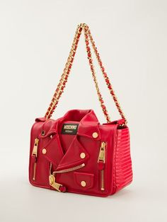 Moschino Biker Jacket Style Tote - Smets - Farfetch.com - Moschino RTW Fall 2014 - NEW IN  - SMETS - BAG - ACCESSORY - IT BAG
